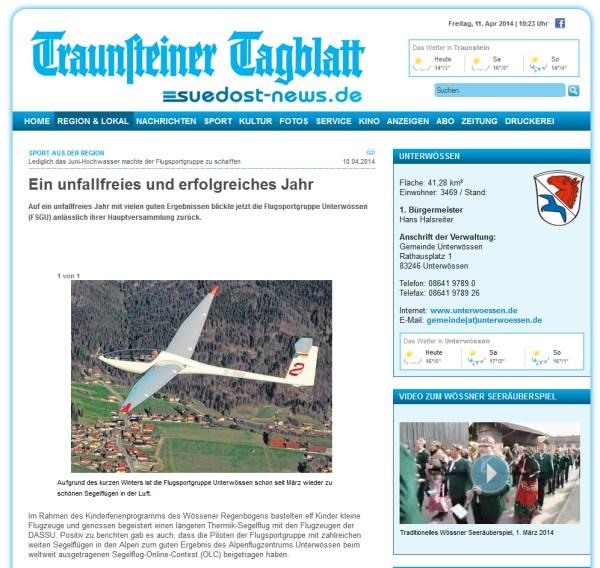 Traunsteiner Tageblatt Uebersicht
